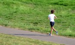 joggerin im park